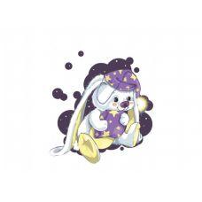 Раскраска Сонный зайчик, 30x40, Белоснежка
