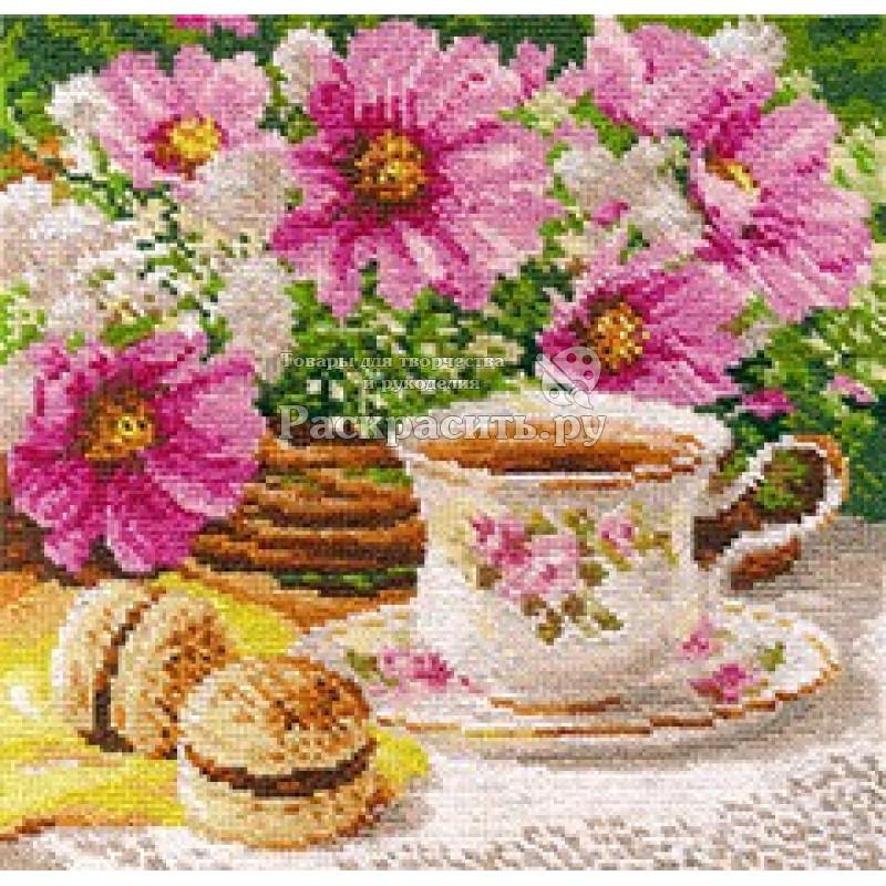 Вышивка утренний чай 10