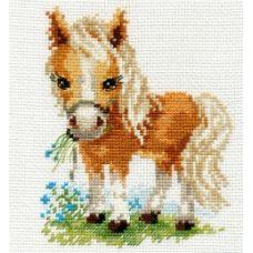 Вышивка Белогривая лошадка, 12x14, Алиса