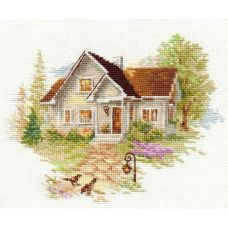 Вышивка Июльский домик, 18x14, Алиса