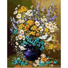 Раскраска Букет полевых цветов, 40x50, Белоснежка