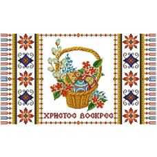 Ткань для вышивания бисером Рушник пасхальный 1, 35х60, Конек