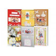Набор для создания 6-ти открыток Снежинки, Белоснежка