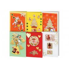 Набор для создания 6-ти открыток Новогодняя сказка, Белоснежка