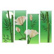 Схема для вышивания бисером Полиптих. Бамбук, 2шт. 20х55; 2шт. 19х50, Астрея