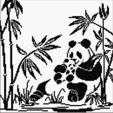 Набор для вышивания Панды-графика, 24x24, Овен