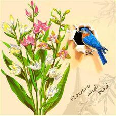 Стразы Весна во Франции. Частичная выкладка, 48x48, Leisuretime