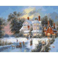 Раскраска Зимний день, 40x50, Белоснежка
