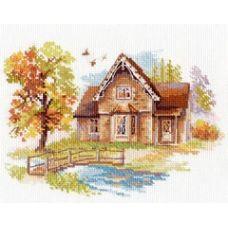 Вышивка Cентябрьский домик, 18x14, Алиса