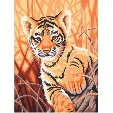 Раскраска Тигренок в джунглях, 30x40, Белоснежка
