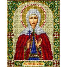 Набор для вышивания бисером Святая Лидия, 20х25 , Паутинка