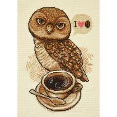 Набор для вышивания Любительница кофе, 18x27, Овен