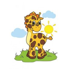 Раскраска Жирафик, 30x40, Белоснежка