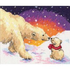 Вышивка Белые медведи, 20x16, Алиса