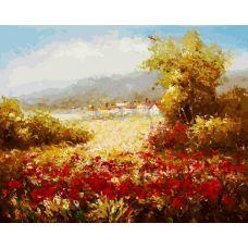 Раскраска Летнее поле, 40x50, Белоснежка