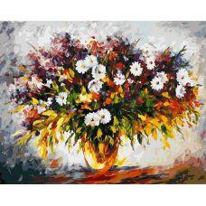 Раскраска Сирень и ромашки, 40x50, Белоснежка