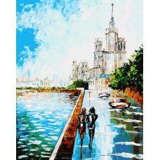 Раскраска Прогулка по Москве, 40x50, Белоснежка
