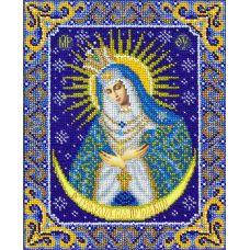 Вышивка бисером Богородица Остробрамская, 20x25, Паутинка