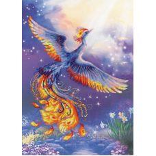 Набор для вышивания Птица счастья, частичная вышивка, 30x40, Риолис, Сотвори сама