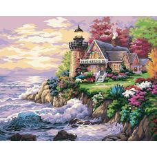 Раскраска Шумный берег (репродукция Маяк Ники Боэм), 40x50, Белоснежка