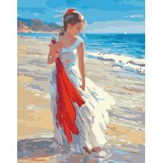 Раскраска Прогулка по берегу, 40x50, Белоснежка