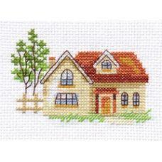 Вышивка Солнечный домик, 9x6, Алиса