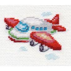 Вышивка Самолетик, 8x6, Алиса