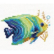 Вышивка Тропические рыбки. Изумрудная, 8x7, Алиса