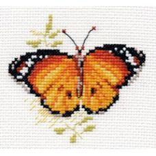 Вышивка Яркие бабочки. Оранжевая, 9x8, Алиса