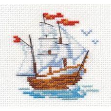 Вышивка Кораблик, 7x8, Алиса