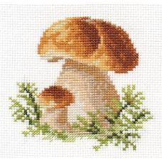 Вышивка Белые грибы, 10x10, Алиса