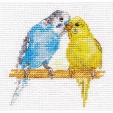 Вышивка Попугайчики, 8x8, Алиса