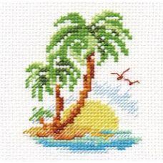 Вышивка Пальмовый островок, 8x6, Алиса