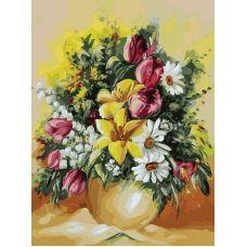 Картина по номерам Душистый букет, 30x40, Белоснежка