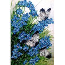 Вышивка бисером на шелке В начале лета, 23x35,5, FeDi
