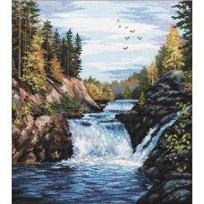 Набор для вышивания Водопад Кивач, 29x35, Овен