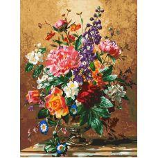 Картина по номерам Роскошный букет, 30x40, Белоснежка