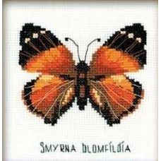 Набор для вышивания Бабочка нимфалида, 13x13, Риолис Веселая пчёлка