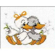 Набор для вышивания Жили у бабуси, 16x13, Риолис Веселая пчёлка