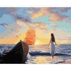 Раскраска Алые паруса, 40x50, Белоснежка