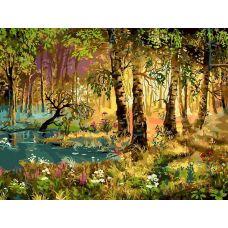Раскраска Утро в лесу, Виктор Цыганов, 30x40, Белоснежка