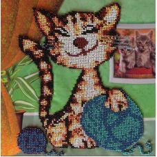 Вышивка бисером на шелке Бабушкин помощник, 29x29, FeDi
