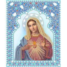 Ткань для вышивания бисером Непорочное сердце Марии, 20x25, Конек