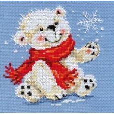 Вышивка Белый медвежонок, 12x13, Алиса