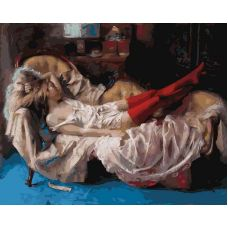 Раскраска Сон прекрасной незнакомки Винсенте Ромеро Редондо, 40x50, Белоснежка