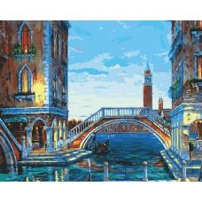 Раскраска Каналы Венеции, 40x50, Белоснежка