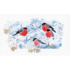 Набор для вышивания Морозное утро, Снегири, 40x24, Риолис, Сотвори сама