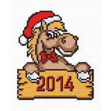 Набор для вышивания Лошадка новогодняя, 10x12, Овен