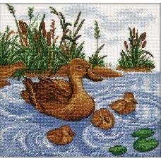 Набор для вышивания Утка с утятами, 21x20, Овен