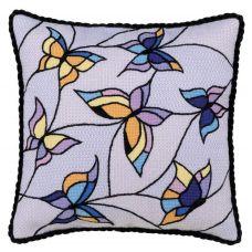 Набор для вышивания Подушка/панно. Витраж, бабочки, 33x33, Риолис Сотвори сама